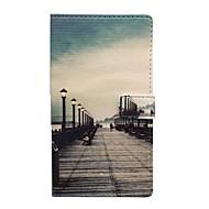 Для Кейс для  Samsung Galaxy Бумажник для карт / со стендом / Флип / Магнитный / С узором Кейс для Чехол Кейс для Панорама города