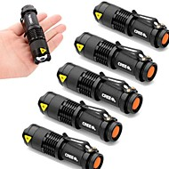 SK68 Lampes Torches LED LED 2000 Lumens 3 Mode Cree XR-E Q5 Batteries non incluses Faisceau Ajustable Résistant aux impacts Imperméable