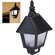lámpara de detección de movimiento del cuerpo humano pared impermeable luz pir la pared la luz de energía recargable pared del jardín