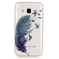 voordelige Galaxy Core Prime Hoesjes / covers-Voor Samsung Galaxy hoesje Hoesje cover Transparant Achterkantje hoesje Veren TPU voor Samsung Galaxy Grand Prime Core Prime