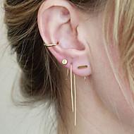 Boucles d'oreille goujon Cuivre Simple Style Noir Argent Doré Bijoux Soirée Quotidien Décontracté 1 paire