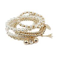 Rhinestone Cute 1set Strand Bracelet - Vintage Party Work White Bracelet For Party