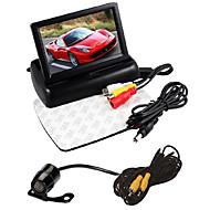 """abordables Grandes Ofertas-4.3 """"plegable conjunto de monitor lcd display cámara de visión trasera del coche HD +"""