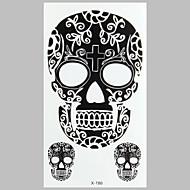 мода татуировки черный череп наклейки водонепроницаемый татуировки