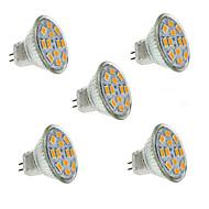 お買い得  LED スポットライト-2 W 240-260 lm GU4(MR11) LEDスポットライト MR11 12 LEDビーズ SMD 5730 装飾用 温白色 / クールホワイト 12 V / 5個 / RoHs
