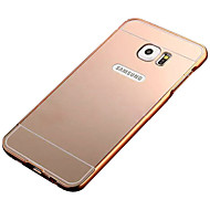 For Samsung Galaxy S7 Edge Belægning Spejl Etui Bagcover Etui Helfarve PC for Samsung S7 edge S7 S6 edge S6 S5 S4