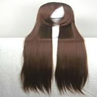 お買い得  -人工毛ウィッグ ストレート 合成 かつら 女性用 非常に長いです キャップレス Brown hairjoy