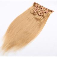 clip-in póthaj természetes emberi haj puha Brazil haj termék a klip - 20 színben kapható