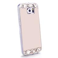 hoesje Voor Samsung Galaxy Samsung Galaxy hoesje Strass Spiegel Achterkantje Glitterglans TPU voor S6 edge S6 S5 S4 S3