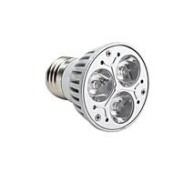 baratos Lâmpadas de Foco de LED-3000 lm GU10 E26/E27 Lâmpadas de Foco de LED MR16 3 leds LED de Alta Potência Regulável Branco Quente AC 220-240V