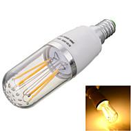 E14 LED Filament Bulbs T 4 COB 300-400lm Warm White Cold White 2800/6500K Decorative AC 85-265V