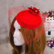 結婚式のパーティーのための花の羽のベール魅惑的な帽子の髪の宝石