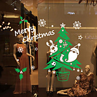 abordables Adornos de Navidad-Calcomanías Decorativas de Pared - Calcomanías de Aviones para Pared Paisaje Animales Sala de estar Dormitorio Baño