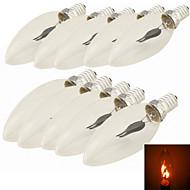お買い得  LED キャンドルライト-10個 1.5W 96-112lm E14 LEDキャンドルライト C35 1 LEDビーズ ハイパワーLED 装飾用 レッド 220-240V / 85-265V