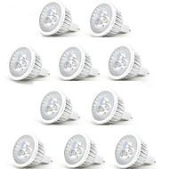 HRY 10pcs 3 W 250 lm MR16 LED Spot Işıkları 3 LED Boncuklar Yüksek Güçlü LED Dekorotif Sıcak Beyaz Serin Beyaz 12 V / RoHs