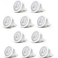 abordables HRY®-10pcs 3W 250lm MR16 Focos LED 3 Cuentas LED LED de Alta Potencia Decorativa Blanco Cálido Blanco Fresco 12V