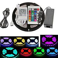 voordelige -RGB-verlichtingsstrips 300 LEDs RGB Afstandsbediening Knipbaar Kleurveranderend Zelfklevend Koppelbaar 100-240V