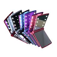 abordables Lámparas de Mesa-espejos LED Mini cosmética plegable portátil de mano compacto conforman espejo de bolsillo con 8 LED para la señora mujeres niñas