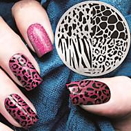 2016 nieuwste versie mode patroon luipaard print nail art afbeelding stempelen template platen