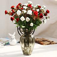 お買い得  -人工花 1 ブランチ ウェディングブーケ バラ テーブルトップフラワー