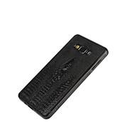 Για Samsung Galaxy Θήκη Ανάγλυφη tok Πίσω Κάλυμμα tok Μονόχρωμη Συνθετικό δέρμα Samsung A8 / A7