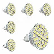 お買い得  LED スポットライト-5W GU5.3(MR16) LEDスポットライト MR16 29 SMD 5050 440 lm クールホワイト 交流220から240 V 6個