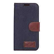 Na Samsung Galaxy Etui Etui na karty / Z podpórką / Flip Kılıf Futerał Kılıf Jeden kolor Skóra PU SamsungS7 edge / S7 / S6 edge plus / S6