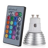 お買い得  LED スポットライト-1個 3W 250lm E14 GU10 GU5.3 E26 / E27 LEDスポットライト 1 LEDビーズ ハイパワーLED 調光可能 装飾用 リモコン操作 RGB 85-265V