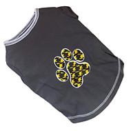 お買い得  -犬 Tシャツ 犬用ウェア カートゥン グレー コスチューム ペット用