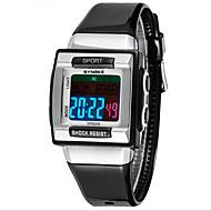 저렴한 -SYNOKE 아동 스포츠 시계 손목 시계 석영 LCD 방수 경보 야광의 Plastic 밴드 블랙 화이트 퍼플