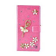 Для Кейс для Huawei / Mate 8 Бумажник для карт / Кошелек / Защита от удара / Стразы Кейс для Чехол Кейс для 3D в мультяшном стиле Твердый