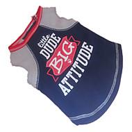 お買い得  -犬 Tシャツ 犬用ウェア 文字&番号 ダークブルー コットン コスチューム ペット用