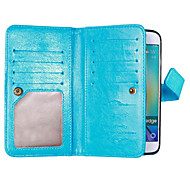 cheap Cases / Covers for Samsung-Case For Samsung Galaxy Samsung Galaxy S7 Edge Card Holder Wallet with Stand Flip Full Body Cases Solid Color Soft PU Leather for S8 Plus