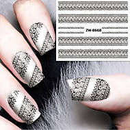 1 Nail Art matrica Víz Transfer matrica smink Kozmetika Nail Art Design