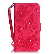 Для Samsung Galaxy Note7 Кошелек / Бумажник для карт / Флип / Рельефный Кейс для Чехол Кейс для Бабочка Мягкий Искусственная кожа Samsung