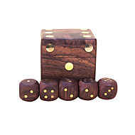 cheap Toys & Hobbies-Royal St. Dice Completely Real Wood Hua Limu Dice Inlaid Copper Passengers On G151 Arrived/G151A Wooden Box With 22 Mm