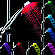 お買い得  世帯の大昇進-LED シャワーヘッドライト ウォーター 防水 ABS