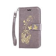 Varten HTC kotelo Lomapkko / Korttikotelo / Tuella / Flip / Koristeltu Etui Kokonaan peittävä Etui Perhonen Kova Tekonahka HTCHTC Desire