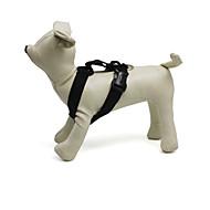 お買い得  -ネコ 犬 ハーネス 調整可能 / 引き込み式 ソリッド ナイロン ブラック