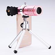 ユニバーサル12×望遠鏡レンズ、携帯電話のiPhone /サムスン銀/金/黒/ローズ