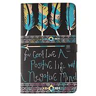 Для Кейс для  Samsung Galaxy Бумажник для карт / Кошелек / со стендом / Флип / С узором Кейс для Чехол Кейс для Слова / выражения Мягкий