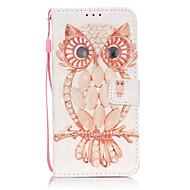 Для Samsung Galaxy S7 Edge Бумажник для карт / Кошелек / со стендом / Флип / С узором Кейс для Чехол Кейс для Сова ТвердыйИскусственная