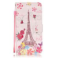 Для Samsung Galaxy S7 Edge Кошелек / Бумажник для карт / со стендом / Флип / С узором Кейс для Чехол Кейс для Эйфелева башня Мягкий