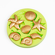 Gusci di mare estate spiaggia cupcake decorazione silicone fondant muffa sugarcraft strumenti polimero argilla cioccolato colore casuale