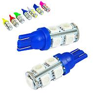 お買い得  -JIAWEN 10個 T10 車載 電球 1.2W SMD 5050 85lm テールライト / デコレーション用ランプ / 作業灯