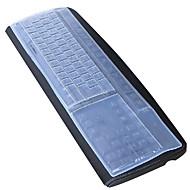 preiswerte Tablet Zubehör-silikon desktop computer tastatur abdeckung 44,5 * 13 cm staubdicht weiß