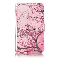 Для Кейс для  Samsung Galaxy Бумажник для карт / Кошелек / со стендом / Флип Кейс для Чехол Кейс для дерево Мягкий Искусственная кожа