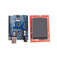 verbeterde versie uno R3 ATmega328P board + 2,4 inch tft lcd touch scherm display module voor Arduino