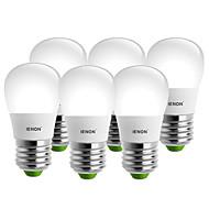 お買い得  LED ボール型電球-IENON® 3000-6000 lm E26/E27 LEDボール型電球 S14 6 LEDの SMD 装飾用 温白色 クールホワイト AC 100-240V