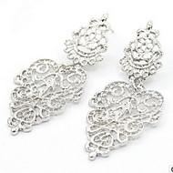 Damskie Kolczyki wiszące Modny Perłowy Stop Circle Shape Leaf Shape Biżuteria Na Impreza Codzienny
